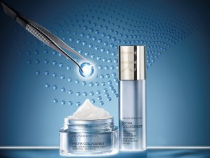 Anti-ageing line Hydra Collagenist by Helena Rubinstein.