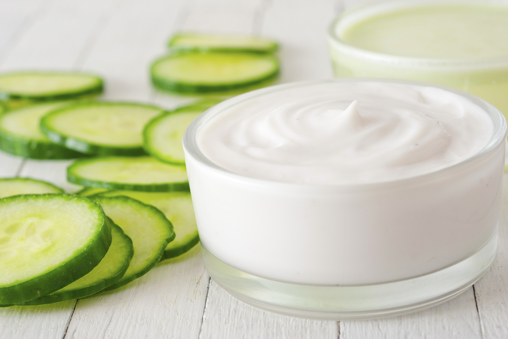 Homemade cucumber face cream  Natural cosmetics from your
